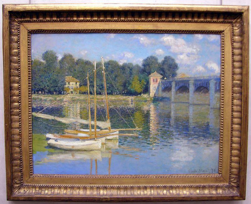 Claude Monet  - The Bridge at Argenteuil:  Musée d'Orsay