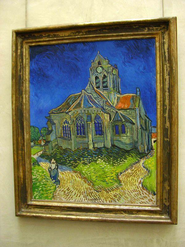 Van Gogh - Church at Auvers:  Musée d'Orsay