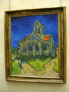 Van Gogh - Church at Auvers:  Musée d'Orsay
