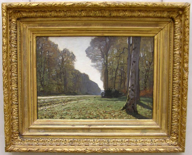 Claude Monet  - Paved Way of Chailly or Bas-Bréau Road:  Musée d'Orsay
