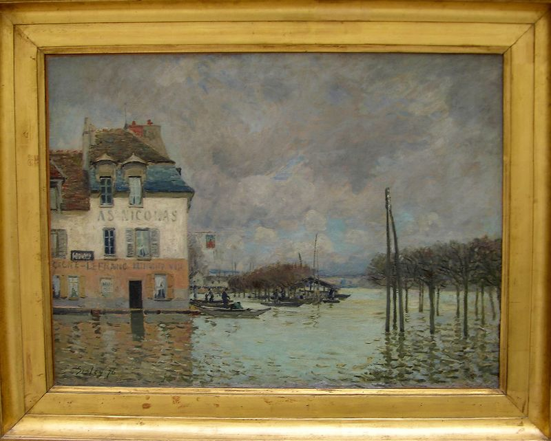 Alfred Sisley - Flood at Port-Marly:  Musée d'Orsay