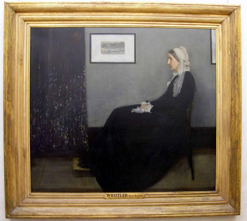 James Abbott McNeill - Whistler's Mother:  Musée d'Orsay