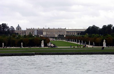 Rear view of Palace of Versailles