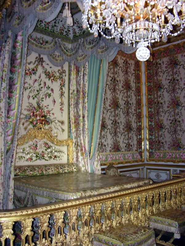Marie Antoinette's bedroom inside Palace of Versailles