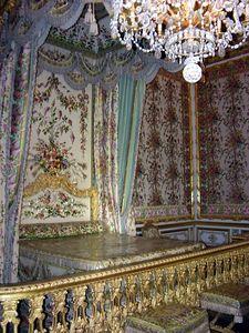 Marie Antoinette's bedroom inside Palace of Versailles