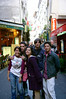 "My dear friend Stephanie visited with me for a month while I was in Paris (she is in the front). Here we are in Le Quartier Latin.   <br /> Liz, Conner, Stephanie, ""boy whose name I don't remember"" and me."