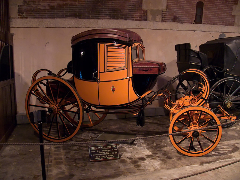 Carriage Museum in the stables at Chateau Vaux le Vicomte.