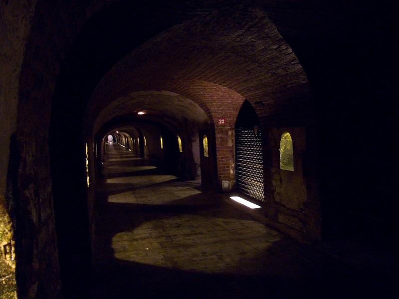 Down in the cellars of Moet & Chandon