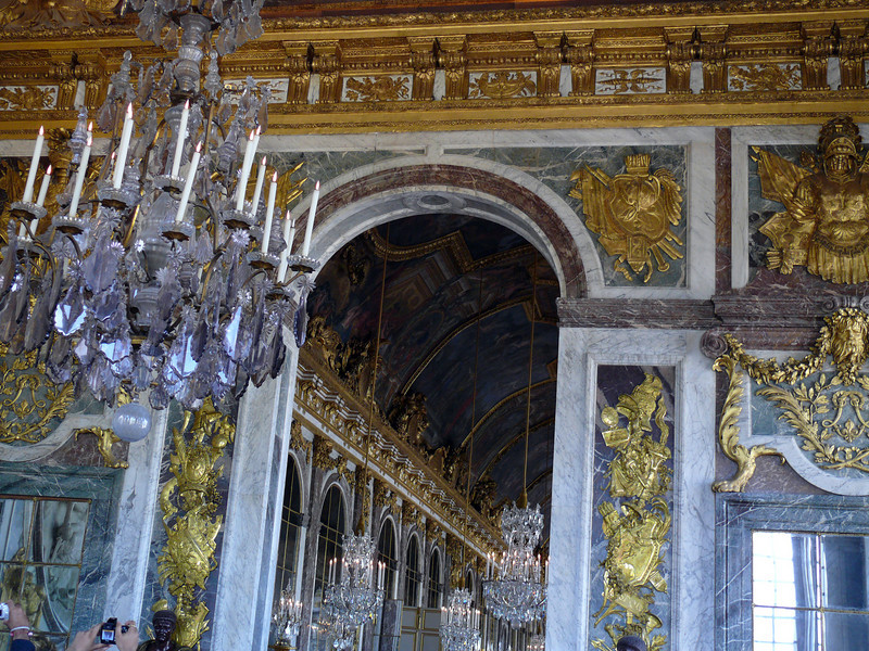 Doorway from the War Room to the Hall of Mirrors- Versailles
