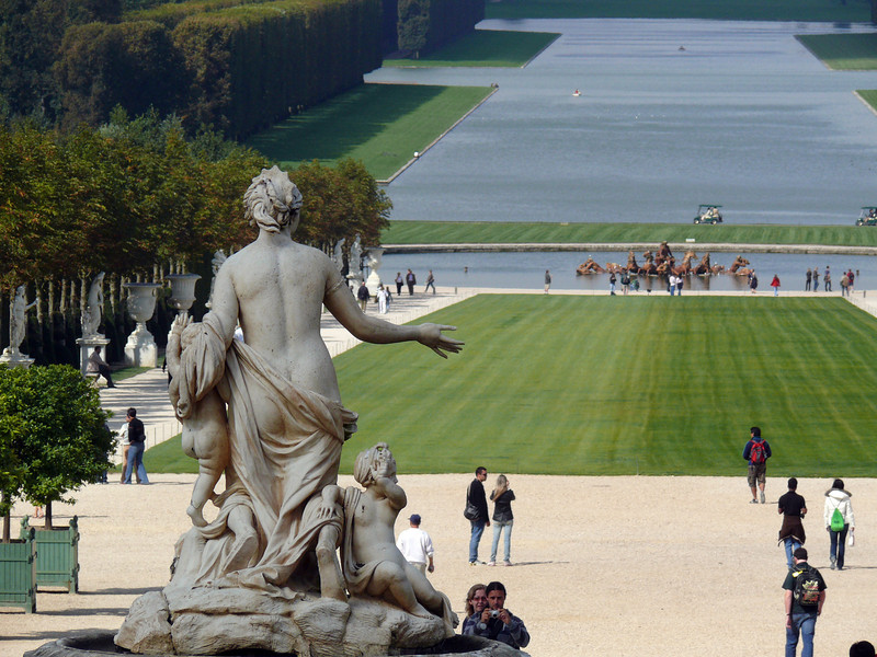Towards the Grand Canal- Versailles