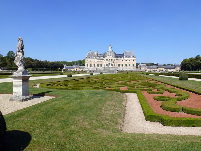 Vaux Le Vicomte- View of garden designed by Andre Le Notre.