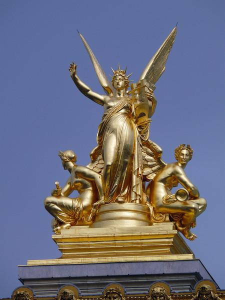 Close-up of statue- Opera Garnier