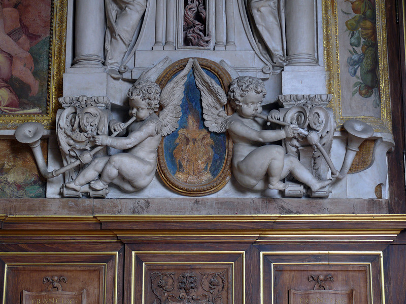 Detail of the Great Hall of François I- Fontainbleau