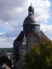 View of St. Quiriace Church (12th century) from Tour Cesar- Provins, France