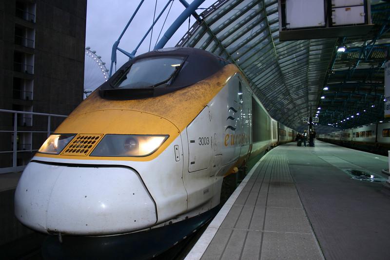 Eurostar at Waterloo International.