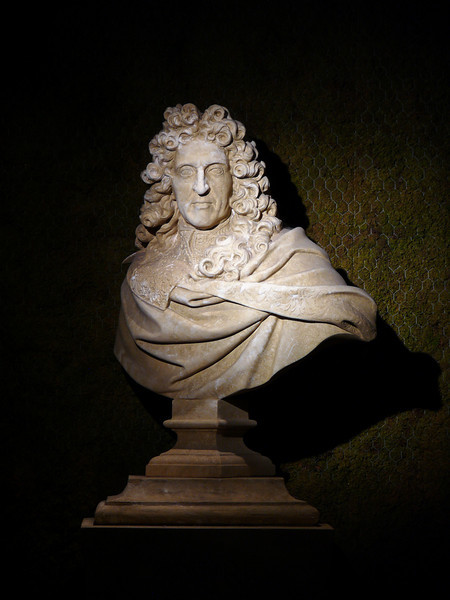 Vaux Le Vicomte- Bust of Andre Le Notre, designer of the gardens at Vaux Le Vicomte, Versailles, and many others.