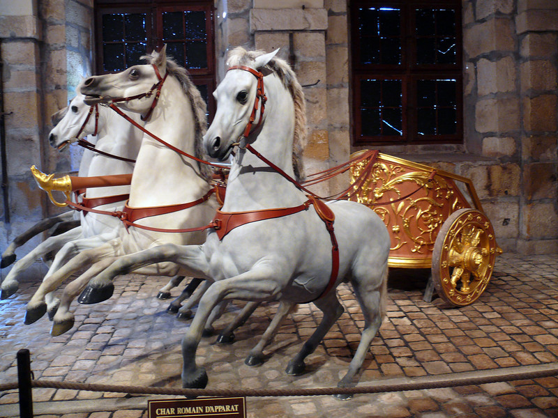 Vaux le Vicomte- In the carriage/stables museum.