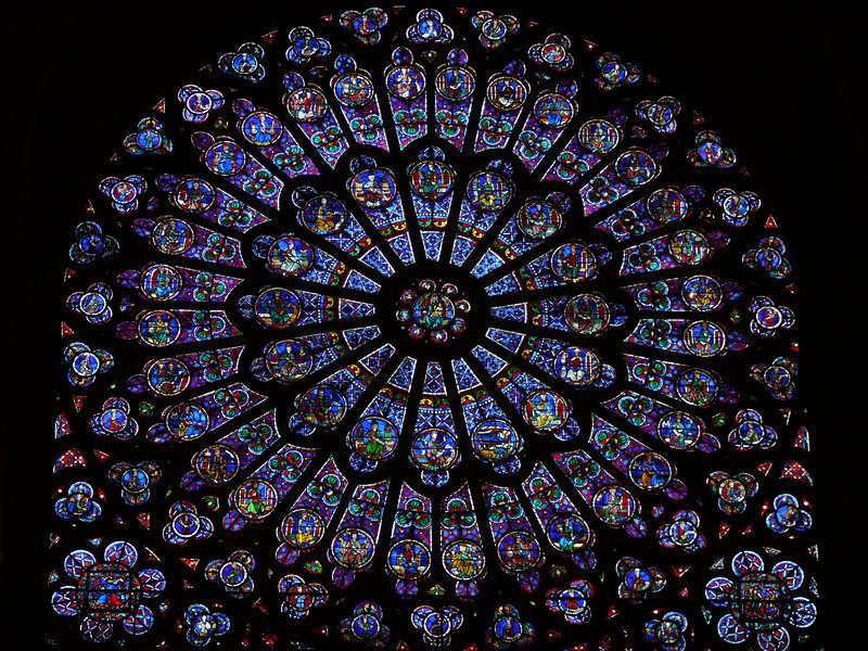 Full view of North Rose Window- Notre Dame