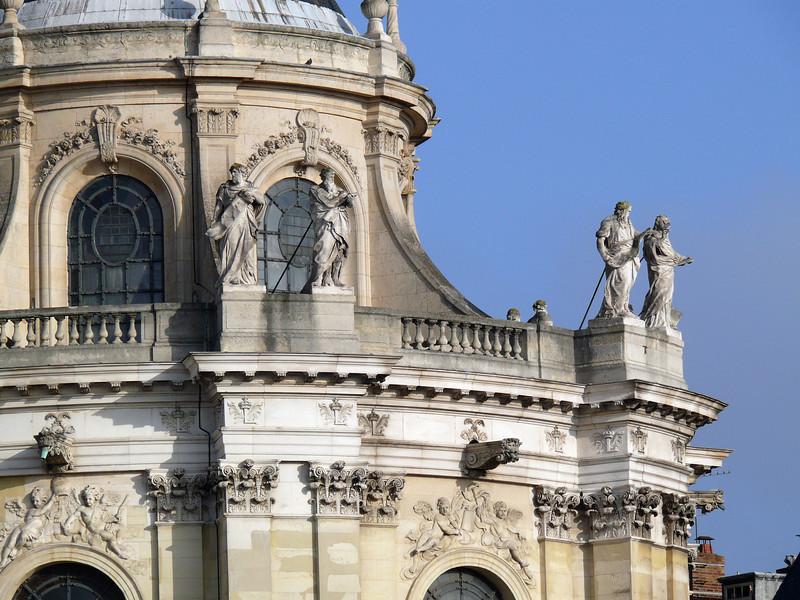 Detail of facade of Royal Chapel- Versailles