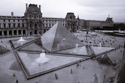 I.M. Pei's pyramid at the Louvre