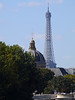 Dome in foreground is the Institute of France, with Eiffel Tower in background