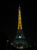 Eiffel Tower started sparkling at 9pm.