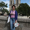 My Dame posing in front of Notre Dame..