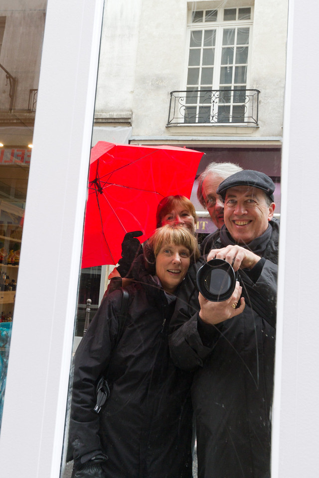 Barbara, Suzy, Ken and me in the rain
