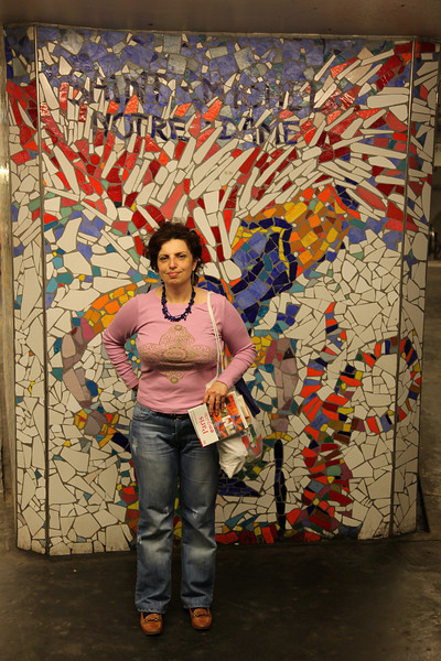 Wall in Notre Dame metro station, wonderful...
