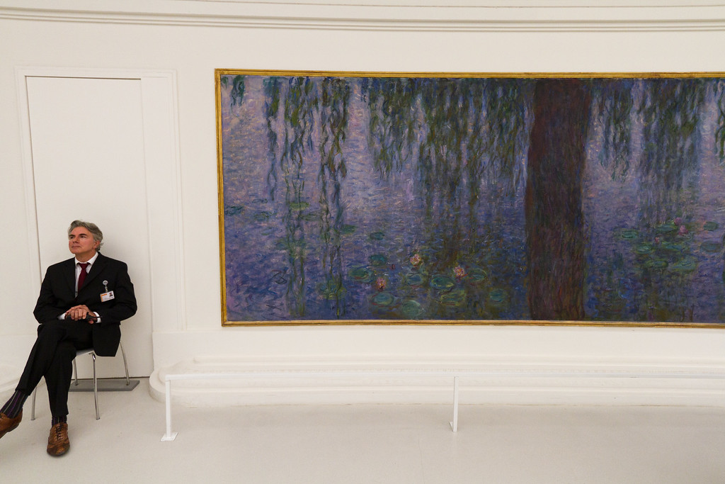 Monet's water lillys were given to the country by the artists, and since the 1920's have been housed in the L'Orangerie museum near the Tuileries gardens outside the Louvre