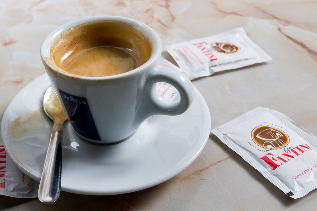 While not up to Italian standards, having a coffee in a sidewalk cafe is just as satisfying