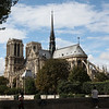 Notre Dame seen from over the river Seine..