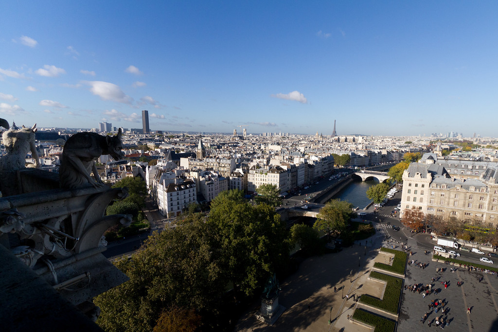 From atop Notre Dame for hundreds of years this has been the best view of Paris