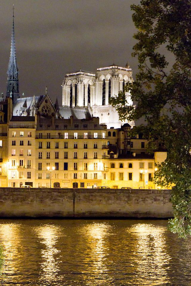 Apartments of the Ile de la Cite, with Notre Dame behind