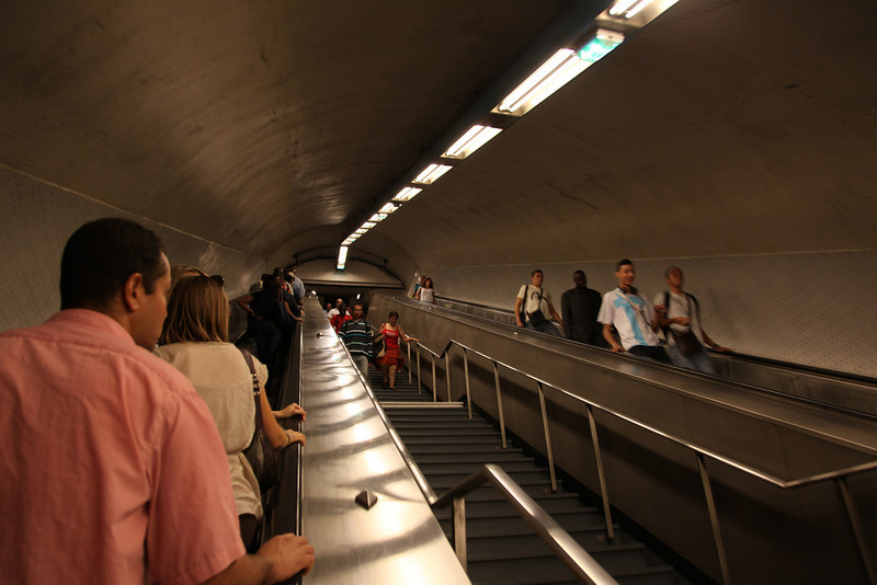Endless escalators in the Paris metro-system...
