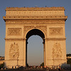Sunset on the Arc de Triomphe