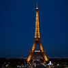 The Eiffel Tower on a beautiful evening