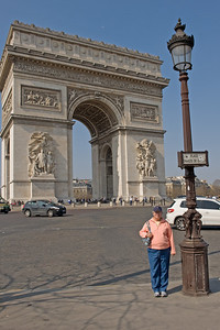 Champs Elysees and Arc de Triomphe