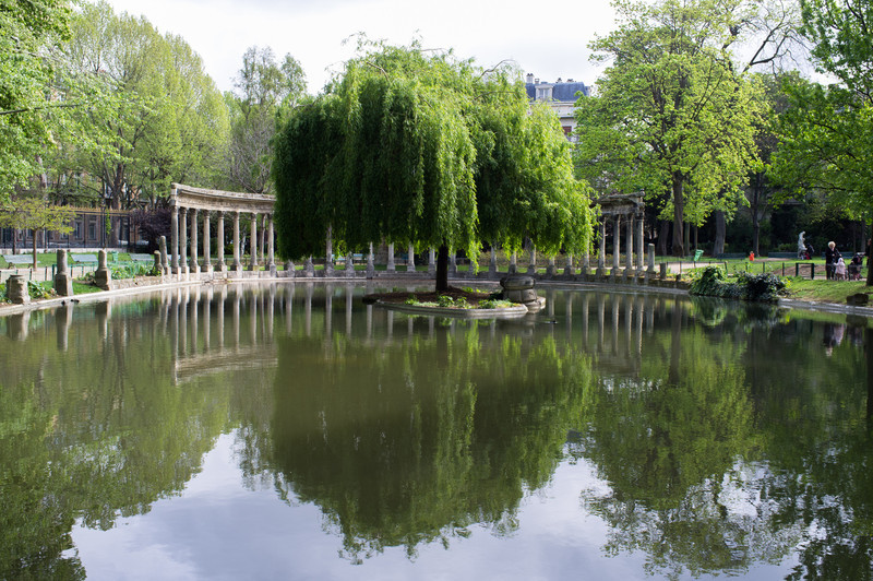Paris' has parks everywhere. This little one is the Parc Monceau, a 20 acre park in the 8th arrondissement. Like all parks that we saw, it was well used.