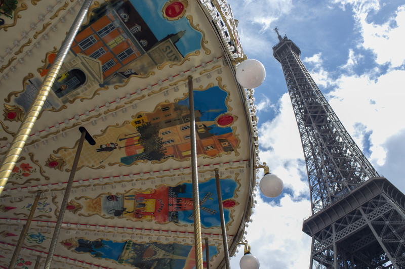 Carousel near the tower