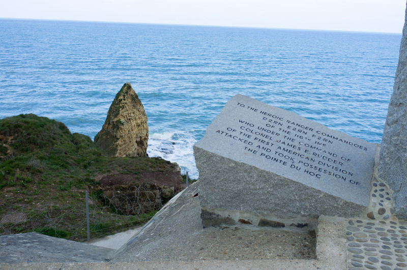 Up the coast, the Rangers assaulted these 300 foot high cliffs at Point du Hoc using ropes and ladders
