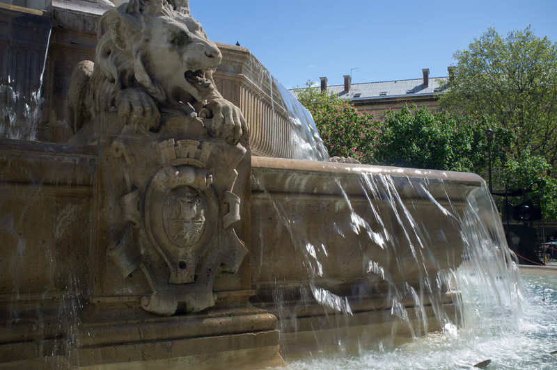 The fountain in front of the church of St. Sulpice, on the left bank