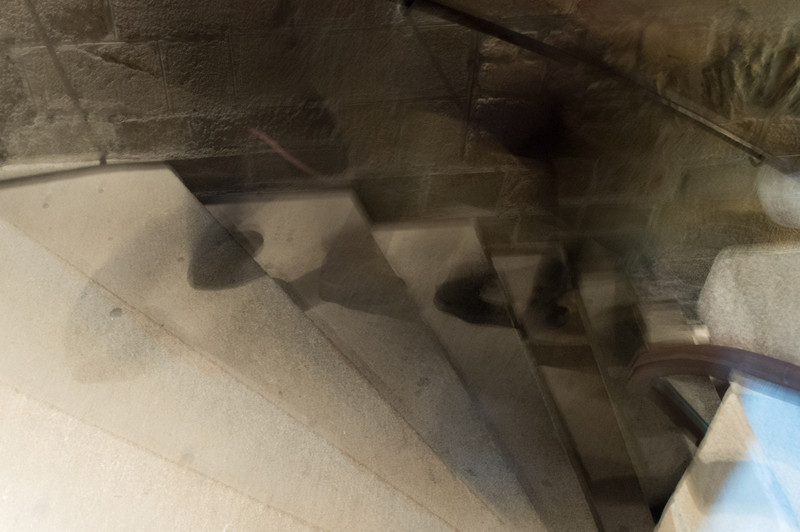 Stairs in the Abbey. Are those ghosts?