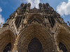 Looking up at the front facade- Reims Cathedral