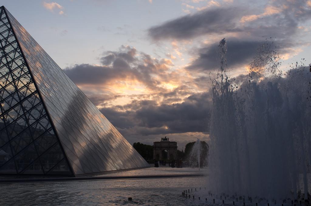 Louvre, sunset