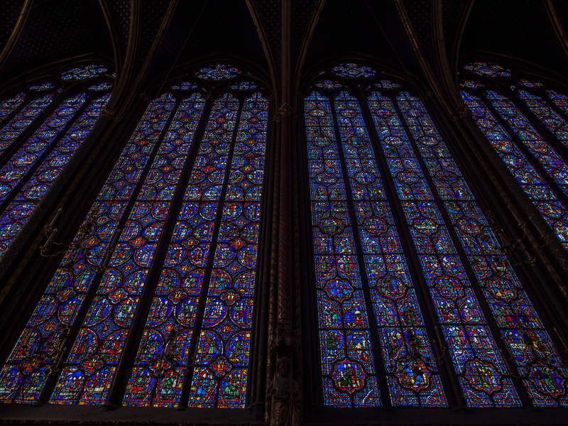 Magnificent Stained-Glass panels in Saint Chapelle.