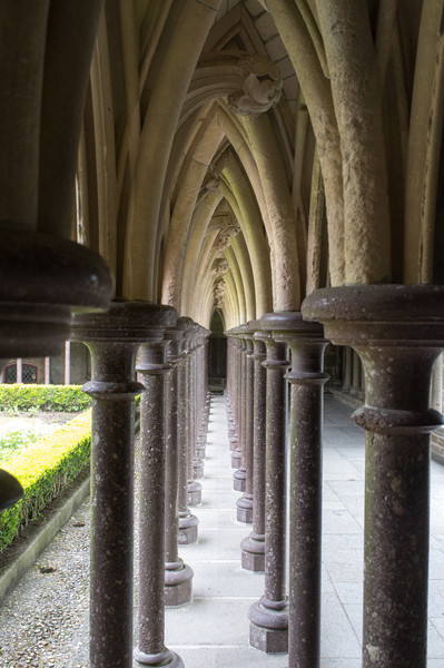 The beautiful cloisters in the Abbey.