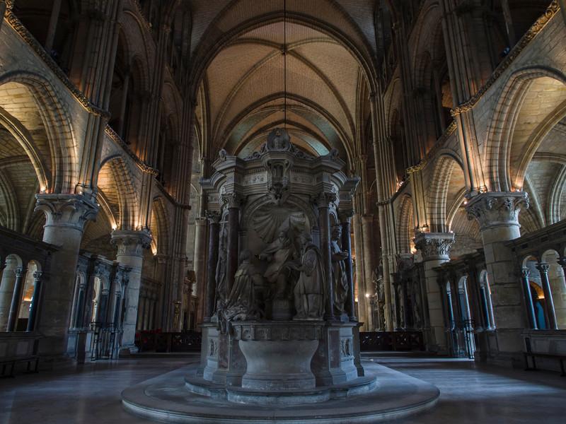 Saint Remi Basilica in Reims, France.