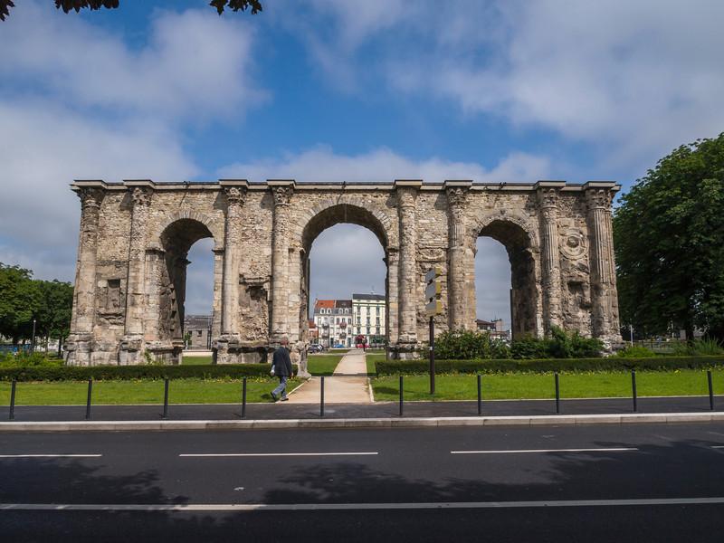 Porte De Mars- Roman ruins- Reims, France.