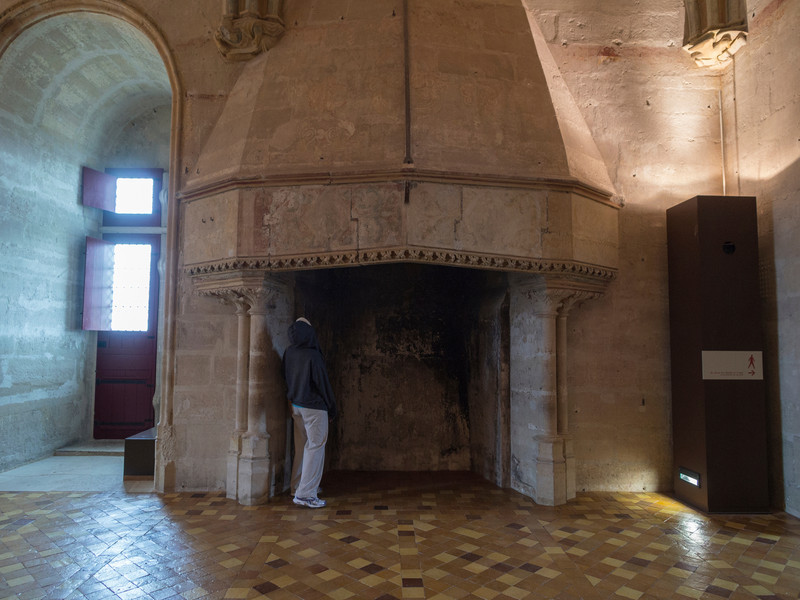 (Big) Fire place in the King's quarters- Keep at Chateau Vincennes.